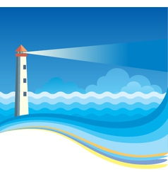 Lighthouse background vector