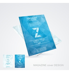 Brochure cover design template vector