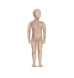 Child mannequin isolated on white vector