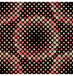 Halftone circle tiles warm colors seamless pattern vector
