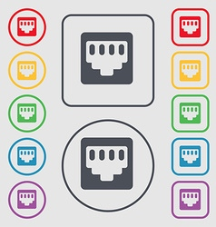 Cable rj45 patch cord icon sign symbol on the vector