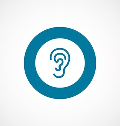 Ear bold blue border circle icon vector