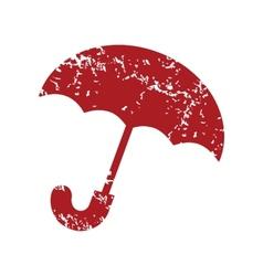 Red grunge umbrella logo vector