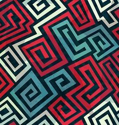 Spiral maze seamless pattern vector