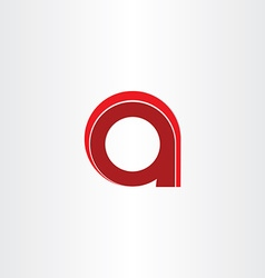 Letter a red sign design vector
