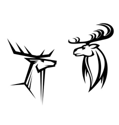 Deer mascots vector