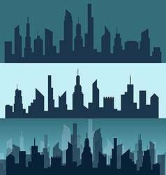 Silhouette of a city vector