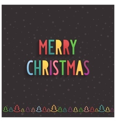 Christmas lettering on dark chocolate background vector