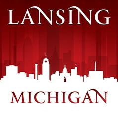 Lansing michigan city skyline silhouette vector
