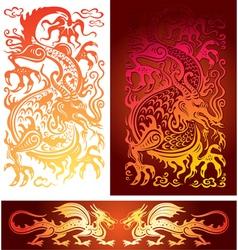 Golden dragon vector