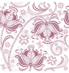Burgundy floral pattern vector