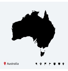 High detailed map of australia with navigation vector