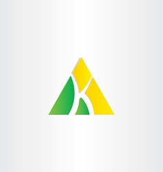 Letter k triangle icon vector