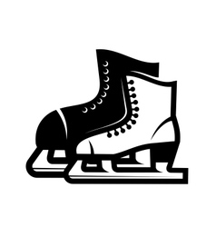 Pair of ice skates vector