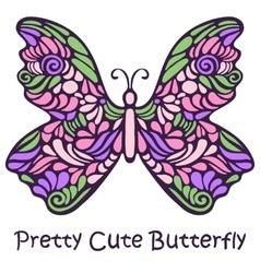 Pretty cute hand drawn butterfly vector