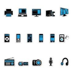Consumer electronics icon vector