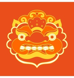 Traditional balinese mask barong vector