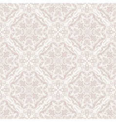 Damask seamless pattern orient pink background vector