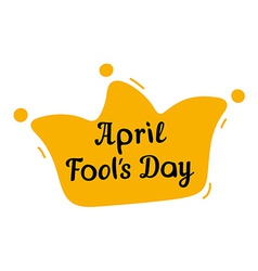 April fools day design with jester hat and text vector