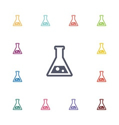 Laboratory flat icons set vector