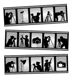 Photography filmstrip vector