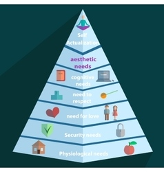 Maslow pyramid icon vector