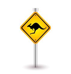 Kangaroo sign vector