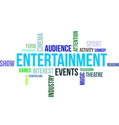 Word cloud entertainment vector