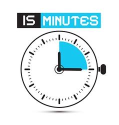 Fifteen minutes stop watch - clock vector
