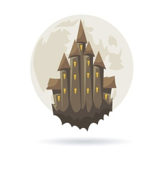Castle with a moon isolated vector