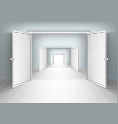 Open doors isolated vector