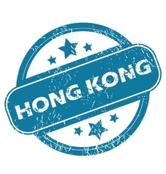 Hong kong round stamp vector