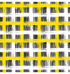 Seamless plaid pattern with bold brushstrokes and vector
