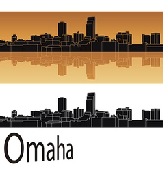 Omaha skyline vector