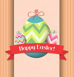Happy easter eggs greeting poster vector