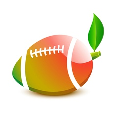 Ball for rugby football - a papaya vector
