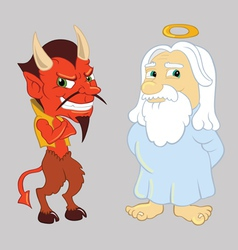 God and the devil vector
