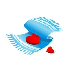 Icon wash towel vector