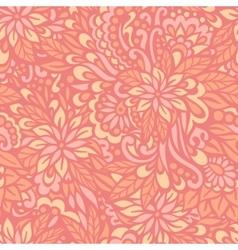 Flowering garden seamless decorative pattern vector