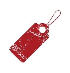 Red grunge price tag logo vector