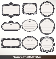 Frame labels set ornamental vintage vector