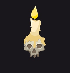 Skull with a candle vector