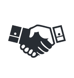 Deal handshake sign vector