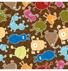Bacteria seamless pattern medicine background vector