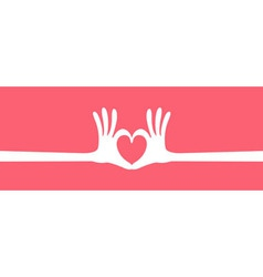 Hand heart gesture long vector