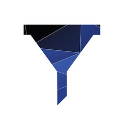 Filter icon abstract triangle vector
