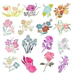 Decorative flowers vector