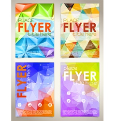 Collect flyer design template vector
