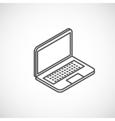 Isometric icon of laptop vector