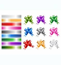 Ribbon collections for your design vector